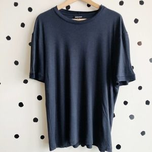 Giorgio Armani Men's Knit T-Shirt Navy Blue 60